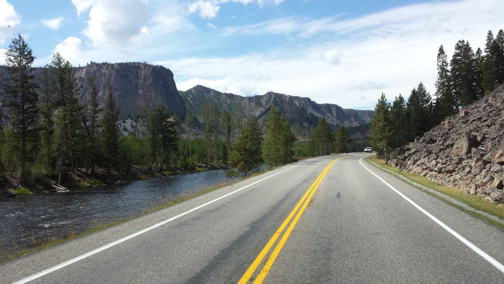 From Madison Junction to West Yellowstone Montana